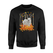 Load image into Gallery viewer, Fall season White Great Pyrenees sweatshirt - IPH447