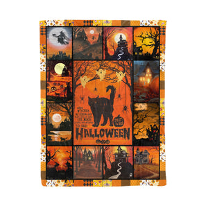 Halloween witch time fleece blanket