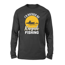 Load image into Gallery viewer, Kayak Fishing Long sleeve shirt design vintage style - awesome Birthday, Christmas gift for fishing lovers - IPH2107