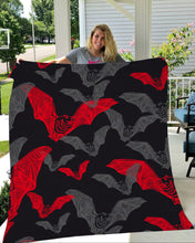 Load image into Gallery viewer, Bat Halloween Fleece Blanket - IPH597