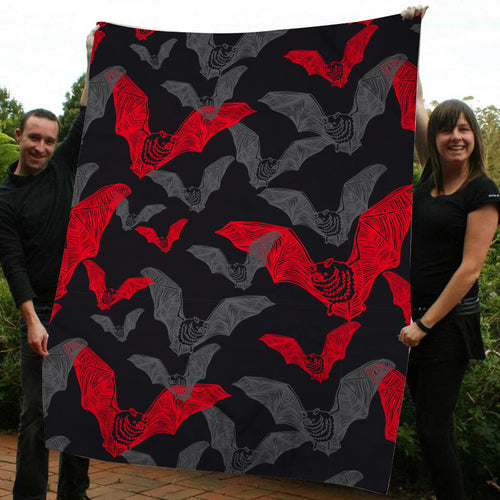 Bat Halloween Fleece Blanket - IPH597