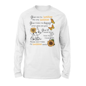 Cute baby Elephant You are my sunshine long sleeve shirt - IPH289