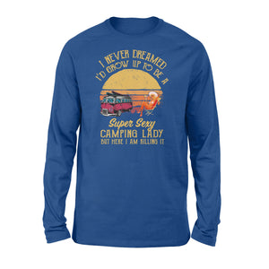 Super sexy Camping Lady Shirts Funny Camping Long sleeve shirts - SPH40