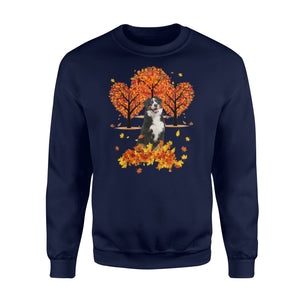 Fall season Bernese Mountain Dog sweatshirt - IPH473