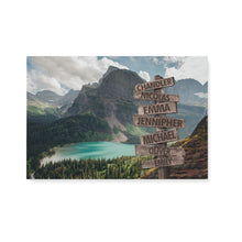 Load image into Gallery viewer, Custom landscape canvas prints with family member name - personalized canvas wall art for your family - NQS1010