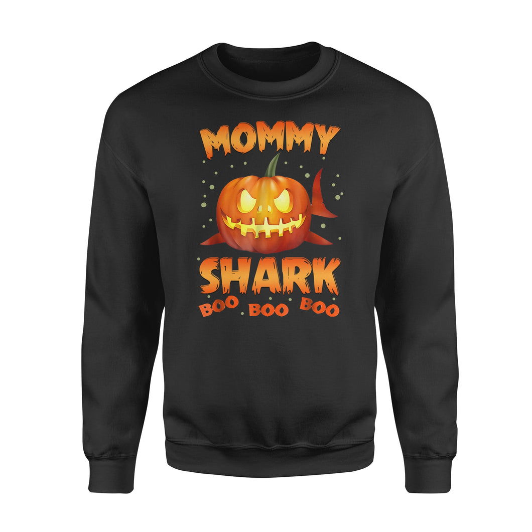 Cute Funny Pumpkin Mommy Shark Halloween costumes Family plus size Halloween printed Sweat shirt design - IPH2016