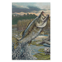 Load image into Gallery viewer, Bass fishing matte canvas
