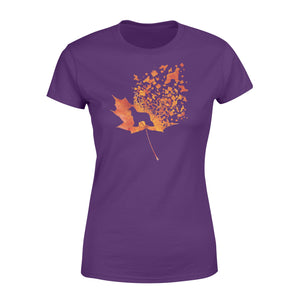 Afghan Hound dog fall leaf - beautiful autumn season Woman T-shirt - Halloween, Thanksgiving, birthday gift ideas for dog mom, dog dad, dog lovers - IPH459