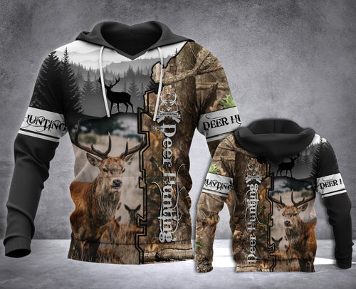Deer Hunting Camo 3D All over Print Hoodie Plus Size - NQS67