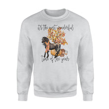 Load image into Gallery viewer, Appaloosa Horse Autumn tree fall leaf pumpkin - beautiful fall season Sweat shirt - Halloween, Thanksgiving, birthday gift ideas for horse lady, horses lovers - IPH702