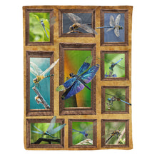 Load image into Gallery viewer, Dragonfly Fleece Blanket