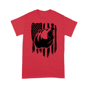 Bear hunting American Flag Grizzly bear shirts for hunter - FSD1317D05