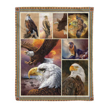 Load image into Gallery viewer, Eagle Fleece Blanket