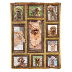 3D Toy Poodle Dog Throw Fleece Blanket - 3DTH164