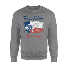 Load image into Gallery viewer, Texas slam fishing personalized gift custom name - Standard Crew Neck Sweatshirt
