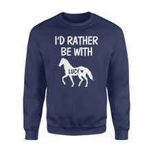 Load image into Gallery viewer, Personalized horse name shirt and hoodie - Standard Fleece Sweatshirt