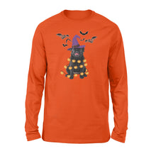 Load image into Gallery viewer, Black Pug Halloween Shirt and Hoodie - IPH437