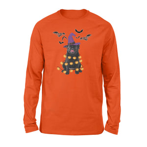 Black Pug Halloween Shirt and Hoodie - IPH437