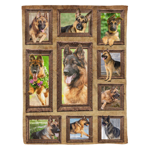 3D German Shepherd dog Throw Fleece Blanket - 3DTH165