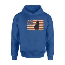 Load image into Gallery viewer, Vintage Betsy Ross Flag howling Wolf hoodie shirt design - IPH272