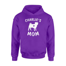 Load image into Gallery viewer, Personalized pug name mom shirt and hoodie