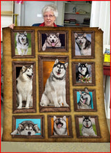Load image into Gallery viewer, 3D Alaskan Malamute dog Throw Fleece Blanket - 3DTH156