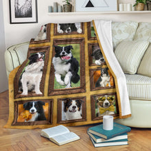 Load image into Gallery viewer, 3D Border Collie dog Throw Fleece Blanket - 3DTH158