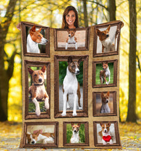 Load image into Gallery viewer, 3D Basenji dog Throw Fleece Blanket - 3DTH159