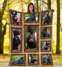 Load image into Gallery viewer, 3D Cute Scottish Terrier dog Throw Fleece Blanket - 3DTH160