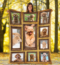 Load image into Gallery viewer, 3D Toy Poodle Throw Fleece Blanket - 3DTH164