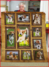 Load image into Gallery viewer, 3D Beagle Throw Fleece Blanket - 3DTH168