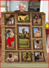 Load image into Gallery viewer, 3D Great Dane dog Throw Fleece Blanket - 3DTH171