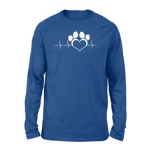 Load image into Gallery viewer, My dog my heart beat print long sleeve shirt design - IPH410