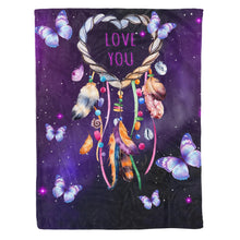 Load image into Gallery viewer, Butterfly Fleece Blanket