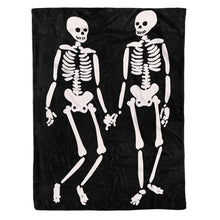 Load image into Gallery viewer, Halloween Skull Soft Throw Fleece Blanket , Halloween Gift - NQS547