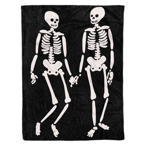 Halloween Skull Soft Throw Fleece Blanket , Halloween Gift - NQS547