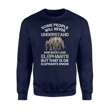 Load image into Gallery viewer, I Love Elephants Shirt and Hoodie  - IPH325