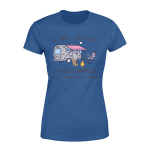 Camping with dog Shirt and Hoodie - QTS60