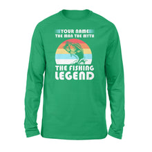 Load image into Gallery viewer, Custom name the man the myth the legend 1970s vintage retro personalized gift - Standard Long Sleeve