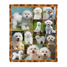 Load image into Gallery viewer, Bichon frise pure water fleece blanket