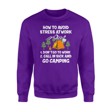 Load image into Gallery viewer, How to avoid stress at work - Go camping sweatshirt - QTS25