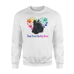 Paw Prints on my Heart Scottie Shirt and Hoodie - IPH412