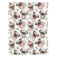 Load image into Gallery viewer, Pug Fleece Blanket - IPH424