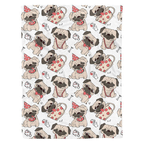 Pug Fleece Blanket - IPH424