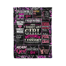 Load image into Gallery viewer, Custom Hunting girl quotes pink camouflage Throw Fleece Blanket - unique gift ideas for Huntress - IPH2242