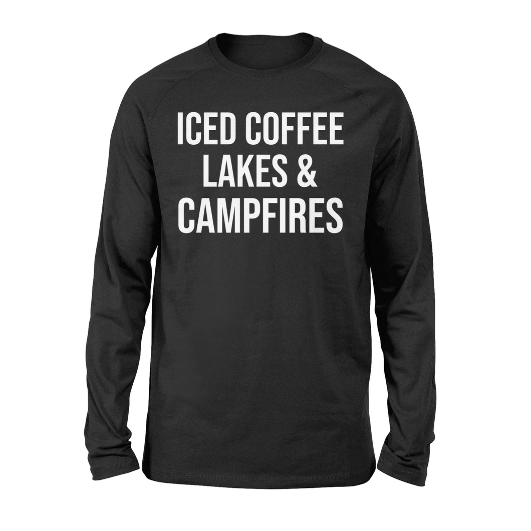 Iced coffee Lakes and Campfires Shirt and Hoodie- QTS34