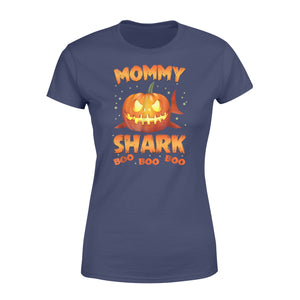 Cute Funny Pumpkin Mommy Shark Halloween costumes Family plus size Halloween printed Women's T-shirt design - IPH2016