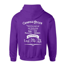 Load image into Gallery viewer, Camping rules Shirt and Hoodie - QTS32