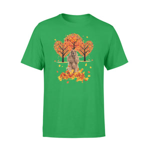 Cute English Cocker Spaniel dog puppies under the autumn tree fall leaf - beautiful fall season T-shirt - Halloween, Thanksgiving, birthday gift ideas for dog mom, dog dad, dog lovers - IPH475