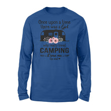 Load image into Gallery viewer, Camping story once upon a time there was a girl who love camping Shirt, funny cute camping shirt for girl- QTS66